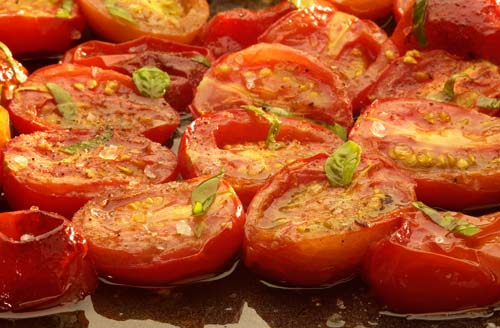 Roast plum tomatoes        Keywords Vegetable Close herb